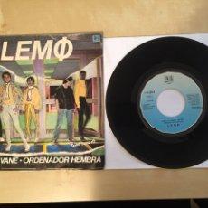 """Discos de vinilo: LEMO - SIBILA VANE / ORDENADOR HEMBRA - SINGLE 7"""" - SPAIN 1981. Lote 264855474"""