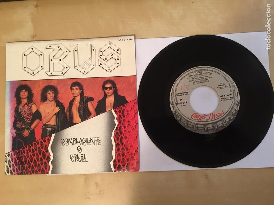 """OBUS - COMPLACIENTE O CRUEL - PROMO SINGLE 7"""" - SPAIN 1988 CHAPA DISCOS (Música - Discos - Singles Vinilo - Heavy - Metal)"""