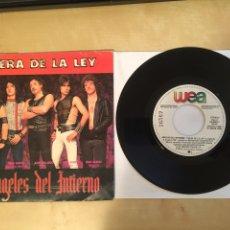 """Discos de vinilo: ANGELES DEL INFIERNO - FUERA DE LA LEY - PROMO SINGLE 7"""" - SPAIN 1985. Lote 264964929"""