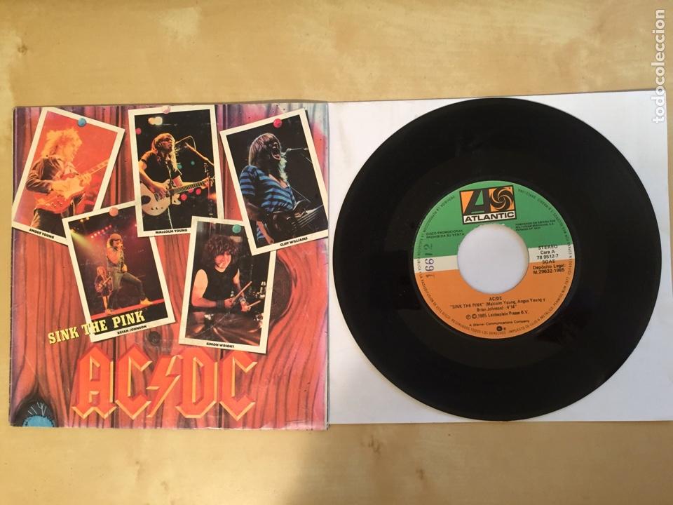 "AC/DC - SINK THE PINK - PROMO SINGLE 7"" - SPAIN 1985 ATLANTIC (Música - Discos - Singles Vinilo - Heavy - Metal)"