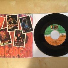 "Discos de vinilo: AC/DC - SINK THE PINK - PROMO SINGLE 7"" - SPAIN 1985 ATLANTIC. Lote 264968344"