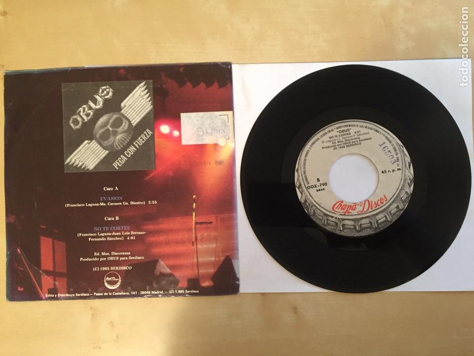 "Discos de vinilo: Obus - Evasion - PROMO SINGLE 7"" - SPAIN 1985 Chapa Discos - Foto 3 - 264968794"
