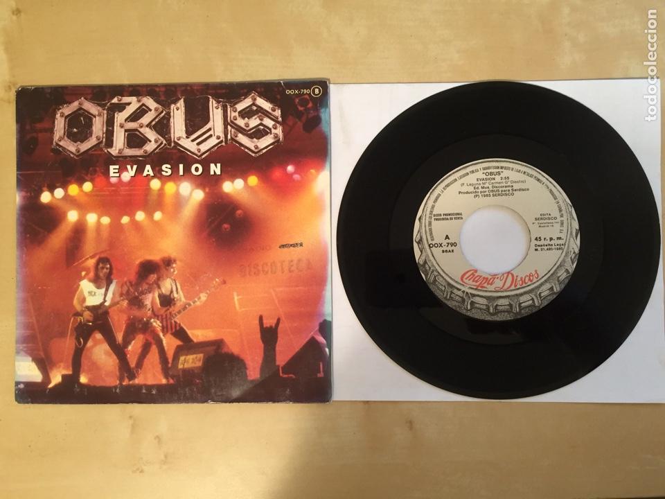"OBUS - EVASION - PROMO SINGLE 7"" - SPAIN 1985 CHAPA DISCOS (Música - Discos - Singles Vinilo - Heavy - Metal)"