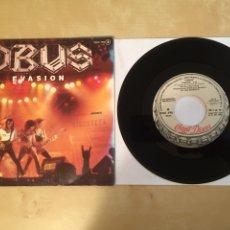 "Discos de vinilo: OBUS - EVASION - PROMO SINGLE 7"" - SPAIN 1985 CHAPA DISCOS. Lote 264968794"
