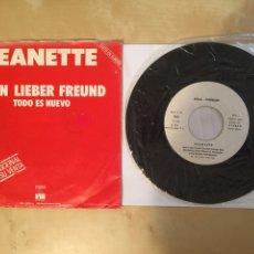 "Discos de vinilo: JEANETTE - MICKY - CANTADO EN ALEMAN - MEIN LIEBER FREUND - PROMO SINGLE 7"" - SPAIN 1977 - ARIOLA. Lote 264971419"