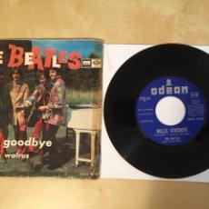 "Discos de vinilo: THE BEATLES - HELLO, GOODBYE / I AL THE WALRUS - PROMO SINGLE 7"" - SPAIN 1967 ODEON. Lote 264973324"