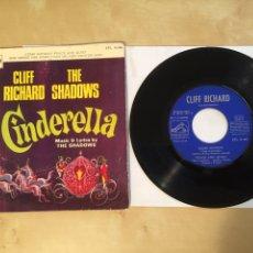 "Discos de vinilo: CLIFF RICHARD WITH THE SHADOWS - CINDERELLA - SINGLE 7"" - SPAIN 1967 - EP - MUY RARO. Lote 264974114"