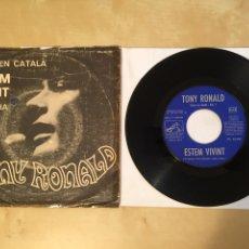 """Discos de vinilo: TONY RONALD CANTA EN CATALÀ - ESTEM VIVINT - PROMO SINGLE 7"""" - SPAIN 1967. Lote 264974794"""