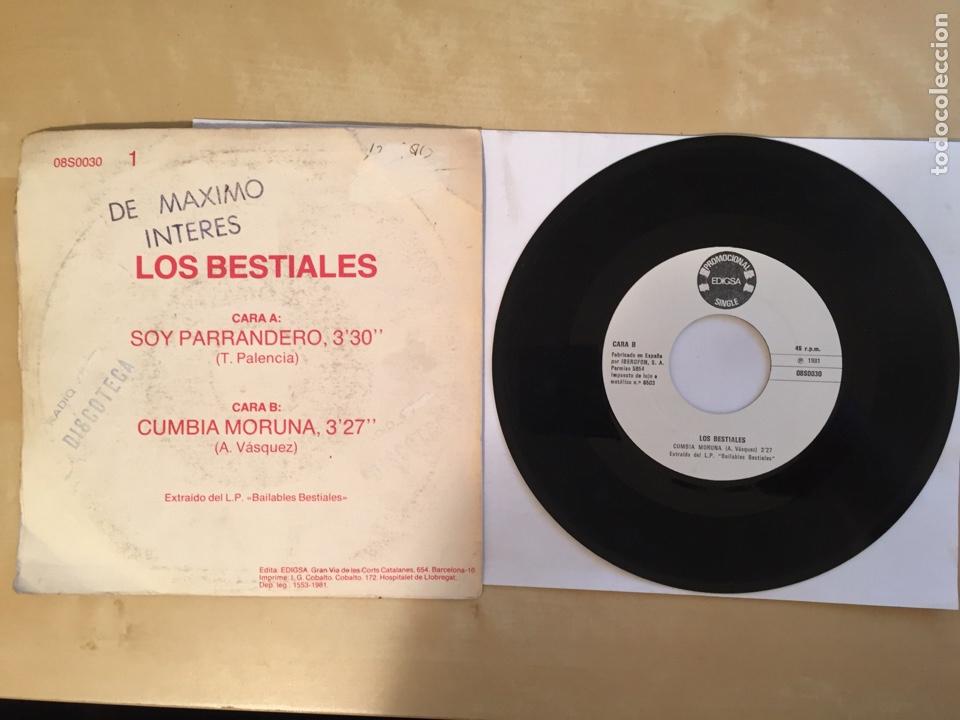 """Discos de vinilo: Los Bestiales - Soy Parrandero - PROMO SINGLE 7"""" SPAIN 1981 EDIGSA - Foto 3 - 264982734"""