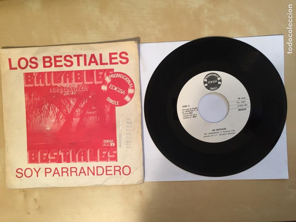 """LOS BESTIALES - SOY PARRANDERO - PROMO SINGLE 7"""" SPAIN 1981 EDIGSA (Música - Discos - Singles Vinilo - Grupos y Solistas de latinoamérica)"""
