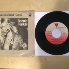 """Discos de vinilo: BONNIE PARKER - EVE OF DESTRUCTION - PROMO SINGLE 7"""" SPAIN 1982 - VICTORIA. Lote 265116264"""