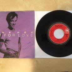 "Discos de vinilo: IGGY POP - CRY FOR LOVE - SINGLE 7"" SPAIN 1986 - AM RECORDS. Lote 265127614"