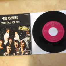 "Discos de vinilo: FORBES - THE BEATLES - SWEET KISS OF FIRE - PROMO SINGLE 7"" - SPAIN 1977 ZAFIRO. Lote 265136244"