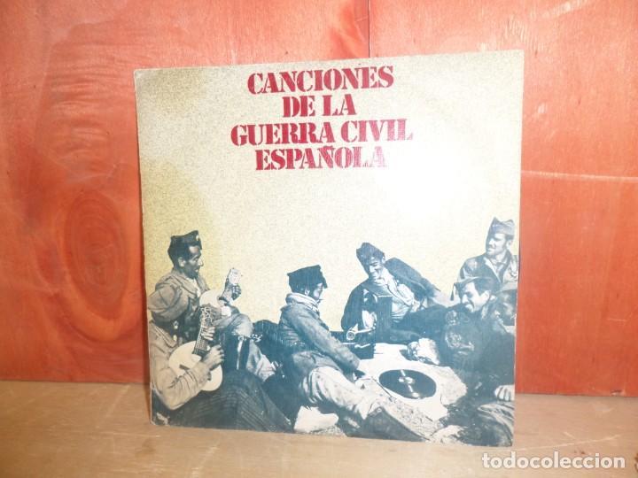 CANCIONES DE LA GUERRA CIVIL ESPAÑOLA - SINGLE - DISPONGO DE MAS DISCOS DE VINILO (Música - Discos - Singles Vinilo - Otros estilos)
