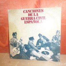 Disques de vinyle: CANCIONES DE LA GUERRA CIVIL ESPAÑOLA - SINGLE - DISPONGO DE MAS DISCOS DE VINILO. Lote 265138354