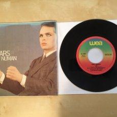 "Discos de vinilo: GARY NUNAM - CARS - SINGLE 7"" - SPAIN 1979 WEA. Lote 265141319"