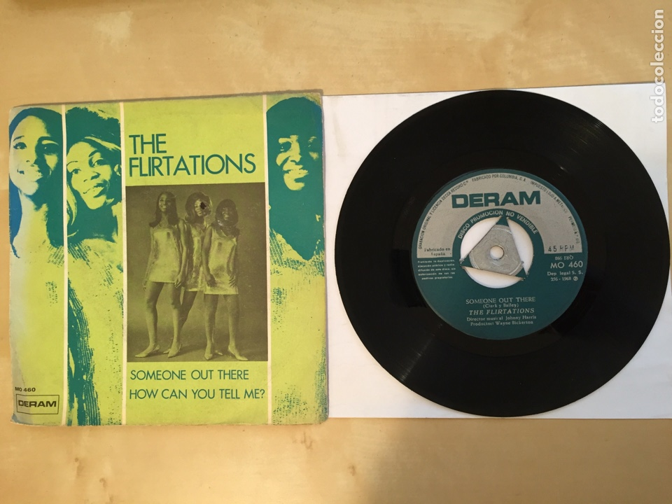"""THE FLIRTATIONS - SOMEONE OUT THERE / HOW CAN YOU TELL ME? - PROMO SINGLE 7"""" - SPAIN 1968 DERAM (Música - Discos - Singles Vinilo - Funk, Soul y Black Music)"""