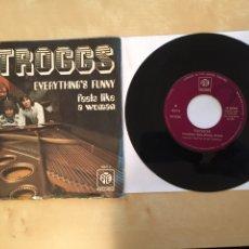 "Discos de vinilo: THE TROGGS - EVERYTHING'S FUNNY / FEELS LIKE A WOMAN - PROMO SINGLE 7"" - SPAIN 1972. Lote 265144289"