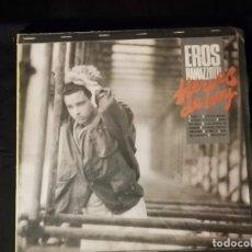 Discos de vinilo: DISCO LP- EROS RAMAZZOTTI- HEROES DE HOY-AÑO 1986 CON CANCIONERO. Lote 265156349