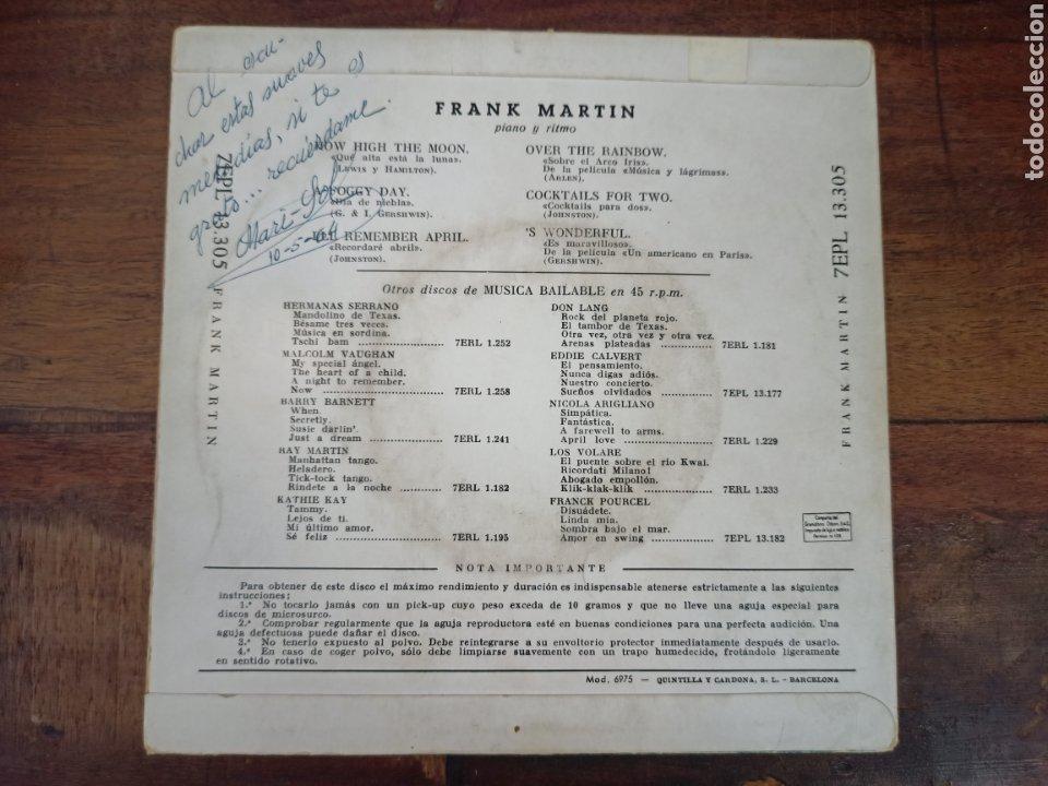 Discos de vinilo: TROPICAL POPS. FRANK MARTIN. LA VOZ DE SU AMO. BARCELONA, 1959. 13305 - Foto 2 - 265159759