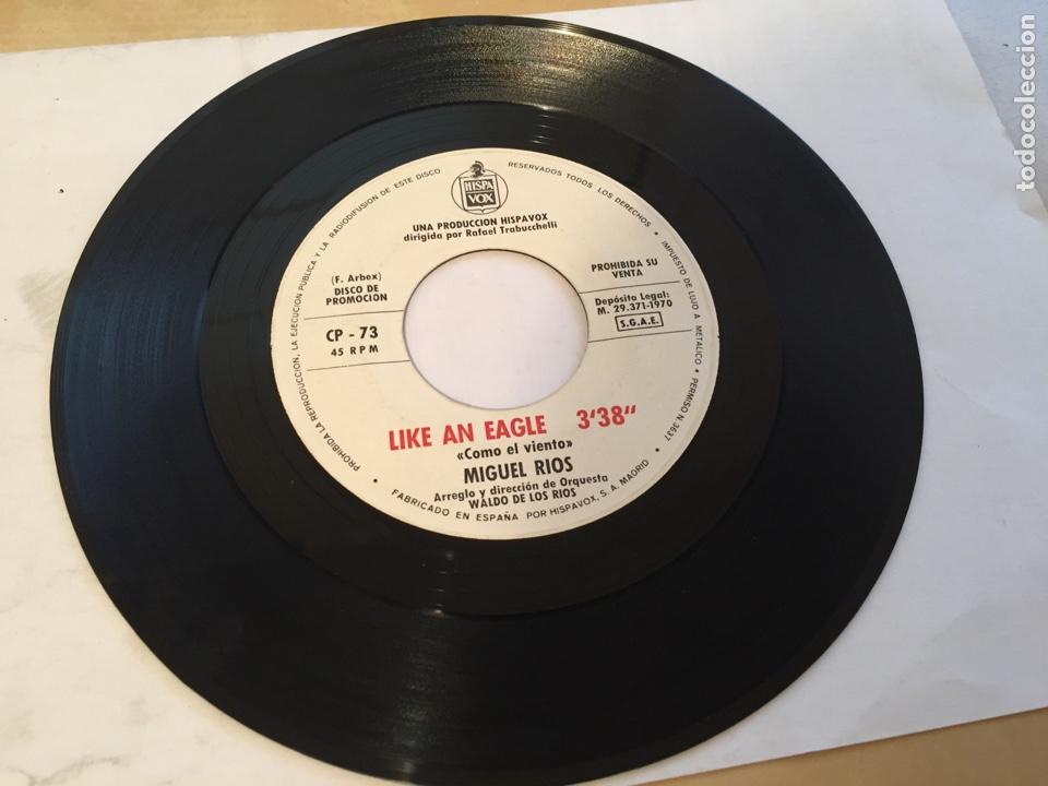 """Discos de vinilo: Miguel Rios - Como El Viento / Like An Eagle - PROMO SINGLE 7"""" - SPAIN - Foto 2 - 265171894"""
