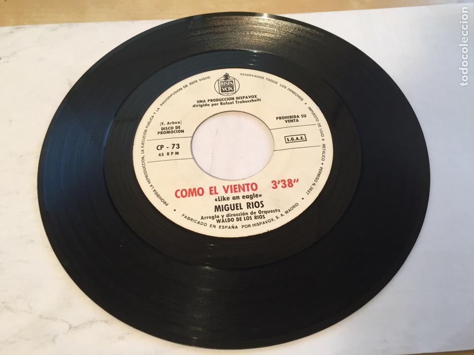 """MIGUEL RIOS - COMO EL VIENTO / LIKE AN EAGLE - PROMO SINGLE 7"""" - SPAIN (Música - Discos - Singles Vinilo - Solistas Españoles de los 50 y 60)"""