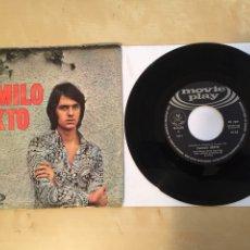 """Discos de vinilo: CAMILO SEXTO - LLEGARÁ EL VERANO (SU 1R SINGLE - MUY DIFÍCIL) - SINGLE 7"""" - 1970 SPAIN - MOVIE PLAY. Lote 265174619"""