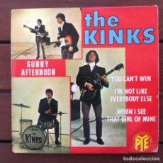 Dischi in vinile: THE KINKS - SUNNY AFTERNOON + 3 . SINGLE . 1966 FRANCIA. Lote 265181529