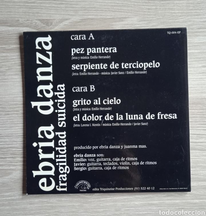 Discos de vinilo: Ebria danza - Fragilidad suicida, EP, Triquinoise Producciones, 1994. Spain. - Foto 2 - 265199224