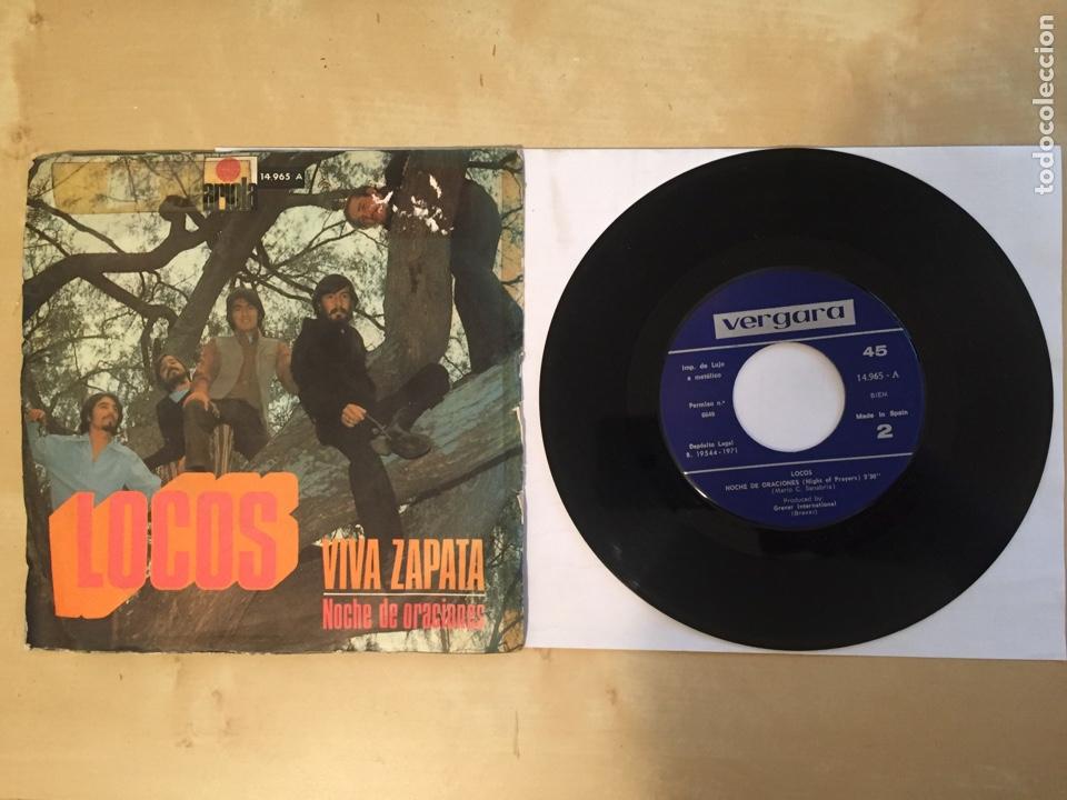 """Discos de vinilo: Locos - Viva Zapata / Noche de Oraciones - SINGLE 7"""" - SPAIN 1971 - Foto 3 - 265213049"""