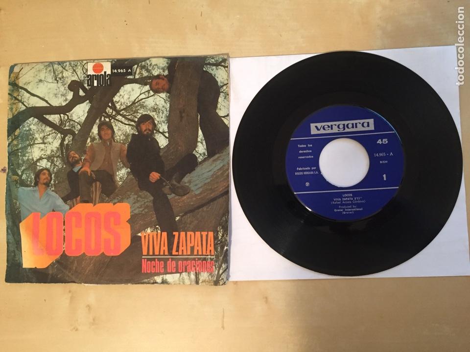 """LOCOS - VIVA ZAPATA / NOCHE DE ORACIONES - SINGLE 7"""" - SPAIN 1971 (Música - Discos - Singles Vinilo - Solistas Españoles de los 50 y 60)"""