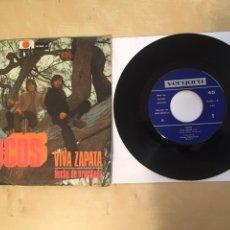 """Discos de vinilo: LOCOS - VIVA ZAPATA / NOCHE DE ORACIONES - SINGLE 7"""" - SPAIN 1971. Lote 265213049"""
