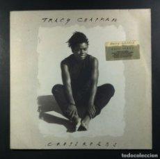 Discos de vinilo: TRACY CHAPMAN - CROSSROADS - LP CON INSERTO 1989 - ELEKTRA. Lote 265217754