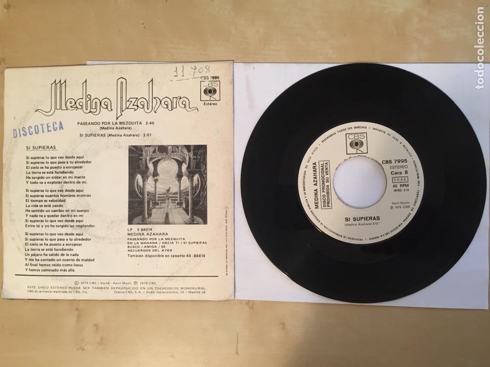 """Discos de vinilo: Medina Azahara - Paseando por la Mezquita - PROMO SINGLE 7"""" - SPAIN 1979 CBS - Foto 3 - 265218554"""