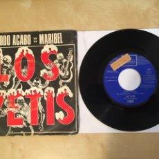 """Discos de vinilo: LOS YETIS - TODO ACABO / MARIBEL - PROMO SINGLE 7"""" - SPAIN 1970. Lote 265327799"""