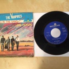 "Discos de vinilo: THE VAMPIRES - WALKING IN THE SUN - SINGLE 7"" - SPAIN 1966. Lote 265329754"