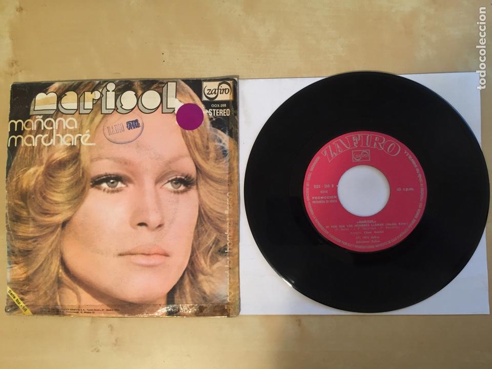 """Discos de vinilo: Marisol - Mañana Marcharé - PROMO SINGLE 7"""" - SPAIN 1974 ZAFIRO - Foto 3 - 265337419"""