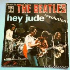 Discos de vinilo: THE BEATLES (SINGLE 1968) HEY JUDE - REVOLUTION. Lote 265337779