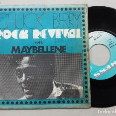 Discos de vinilo: CHUCK BERRY, MAYBELLENE + LITTLE QUEENIE, EDICION FRANCESA. Lote 265337834