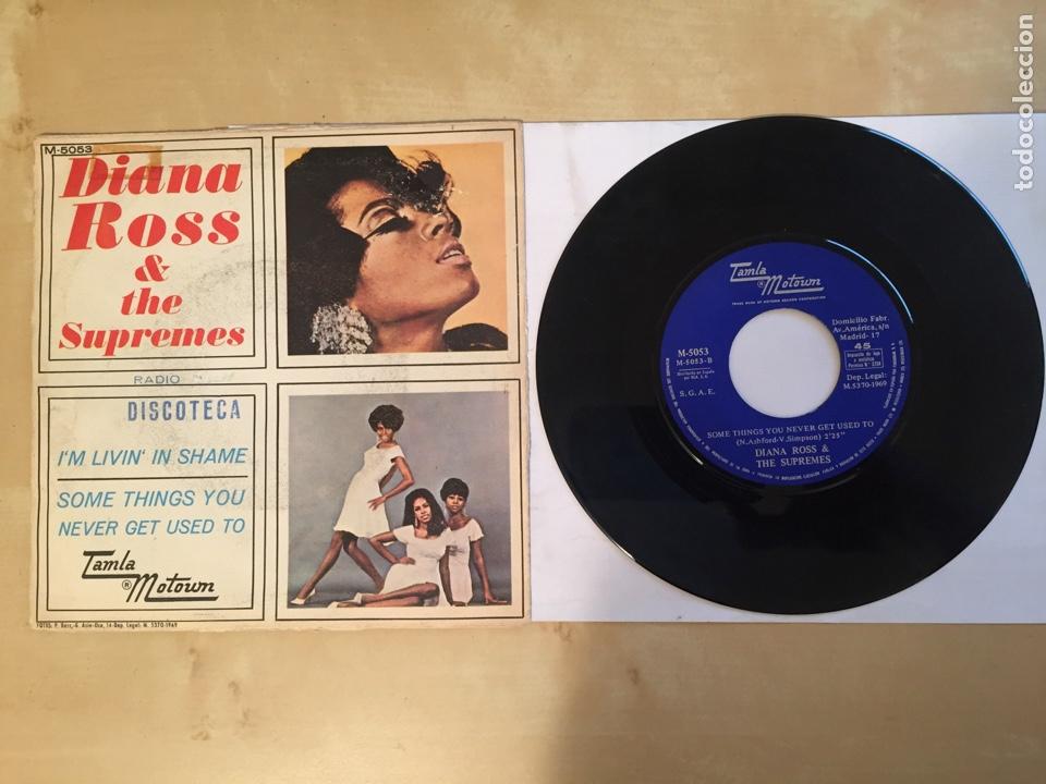 "Discos de vinilo: Diana Ross & The Supremes - I'm Livin' In Shame - PROMO SINGLE 7"" - SPAIN 1969 Tamla Motown - Foto 3 - 265357789"