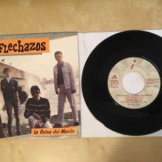 "Discos de vinilo: LOS FLECHAZOS - LA REINA DEL MUELLE - PROMO SINGLE 7"" - SPAIN 1990. Lote 265358679"