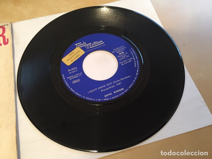 "Discos de vinilo: Stevie Wonder - I Don't Know Why - PROMO SINGLE 7"" - SPAIN 1969 Tamla Motown - Foto 2 - 265359454"