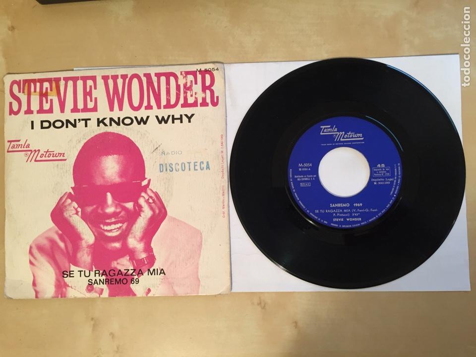 "Discos de vinilo: Stevie Wonder - I Don't Know Why - PROMO SINGLE 7"" - SPAIN 1969 Tamla Motown - Foto 3 - 265359454"