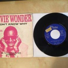 "Discos de vinilo: STEVIE WONDER - I DON'T KNOW WHY - PROMO SINGLE 7"" - SPAIN 1969 TAMLA MOTOWN. Lote 265359454"