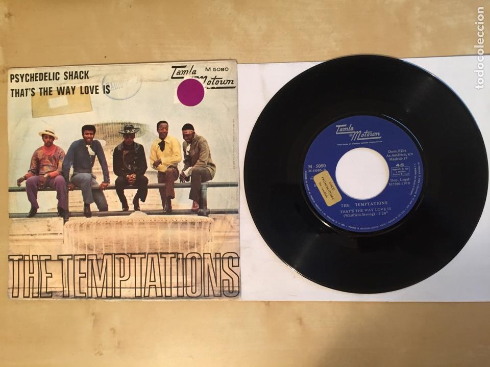 """Discos de vinilo: The Temptations - Psychedelic Shack - SINGLE 7"""" - SPAIN 1970 Tamla Motown - Foto 3 - 265360389"""