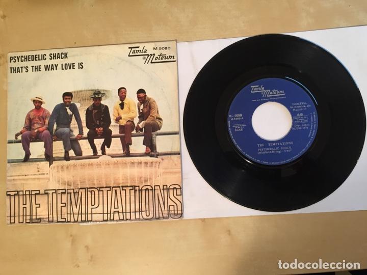 "THE TEMPTATIONS - PSYCHEDELIC SHACK - SINGLE 7"" - SPAIN 1970 TAMLA MOTOWN (Música - Discos - Singles Vinilo - Funk, Soul y Black Music)"