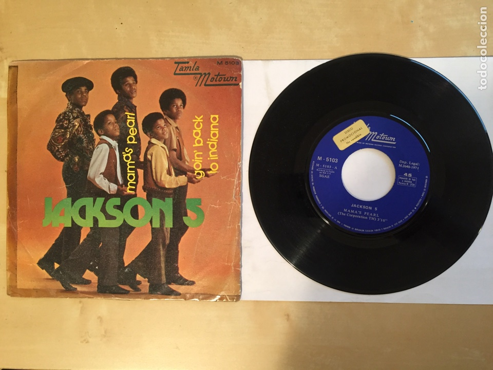"JACKSON 5 - MAMA'S PEARL - PROMO SINGLE 7"" - SPAIN 1971 TAMLA MOTOWN (Música - Discos - Singles Vinilo - Funk, Soul y Black Music)"