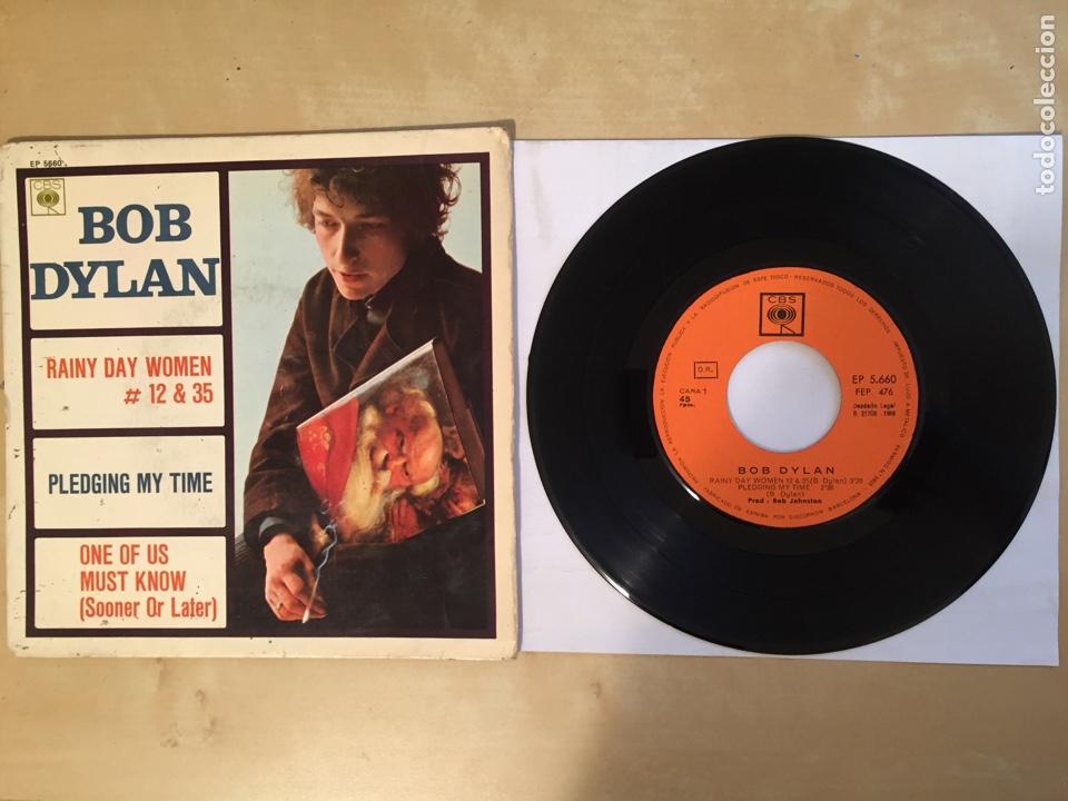 """BOB DYLAN - RAINY DAY +3 (EP)PROMO SINGLE 7"""" SPAIN 1966 CBS (Música - Discos - Singles Vinilo - Pop - Rock Internacional de los 50 y 60)"""