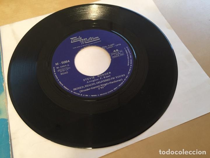 """Discos de vinilo: Stevie Wonder - Signed Sealed Delivered I'm Yours - PROMO SINGLE 7"""" SPAIN 1970 - Foto 4 - 265371444"""