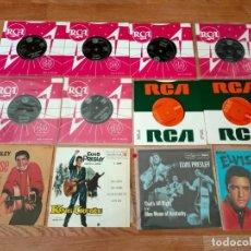 Discos de vinilo: ELVIS PRESLEY LOTE 12 SINGLES Y EP *COMO NUEVOS* - ROCK'N'ROLL-GENE VINCENT. Lote 265444029
